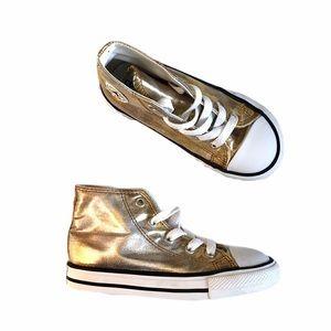 Like new! Converse metallic high tops
